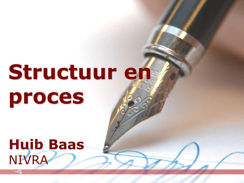 Structuur en proces Huib Baas NIVRA