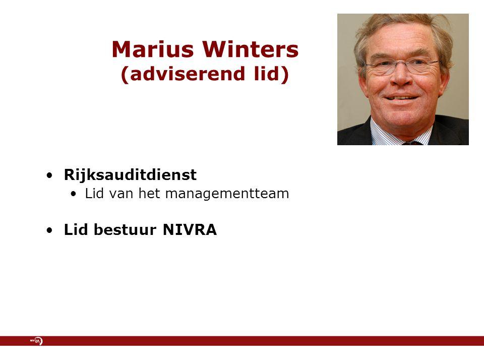 Ondersteuning vakgroep door NIVRA-bureau Koos Vos Coördinator Publieke Sector Rob Heinsbroek Stafmedewerker Beleid & Innovatie