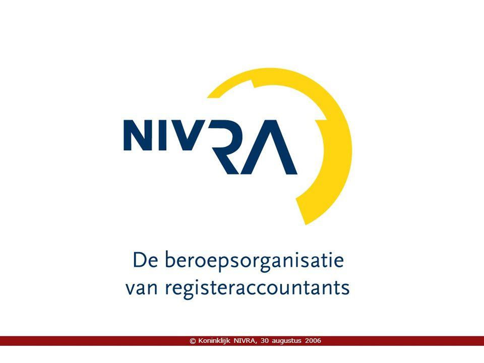 © Koninklijk NIVRA, 30 augustus 2006