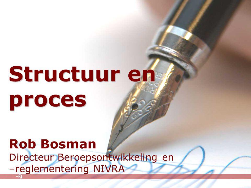 Structuur en proces Rob Bosman Directeur Beroepsontwikkeling en –reglementering NIVRA