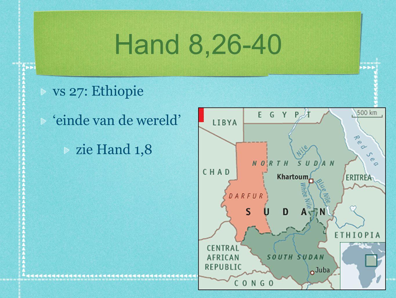 Hand 8,26-40 vs 27: wie is die Ethiopier? 'eunuch'