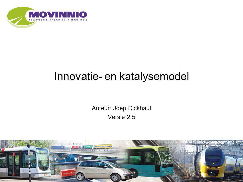 1 Innovatie- en katalysemodel Auteur: Joep Dickhaut Versie 2.5