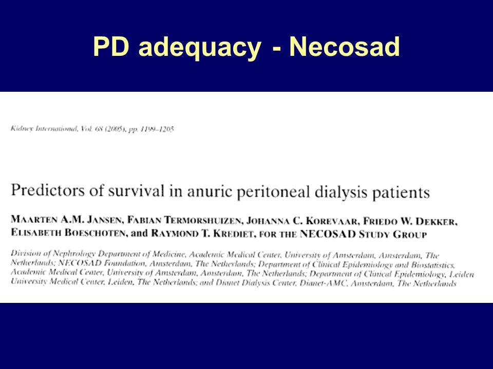 PD adequacy - Necosad