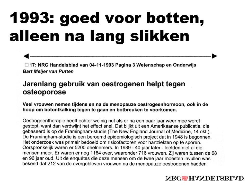 1993: goed voor botten, alleen na lang slikken