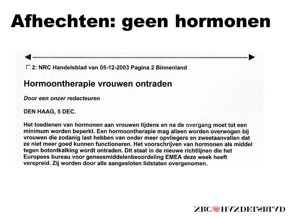 Afhechten: geen hormonen