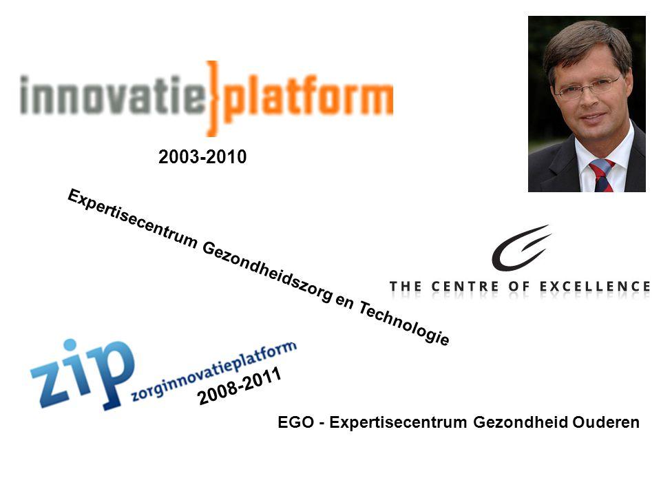 2003-2010 2008-2011 EGO - Expertisecentrum Gezondheid Ouderen Expertisecentrum Gezondheidszorg en Technologie
