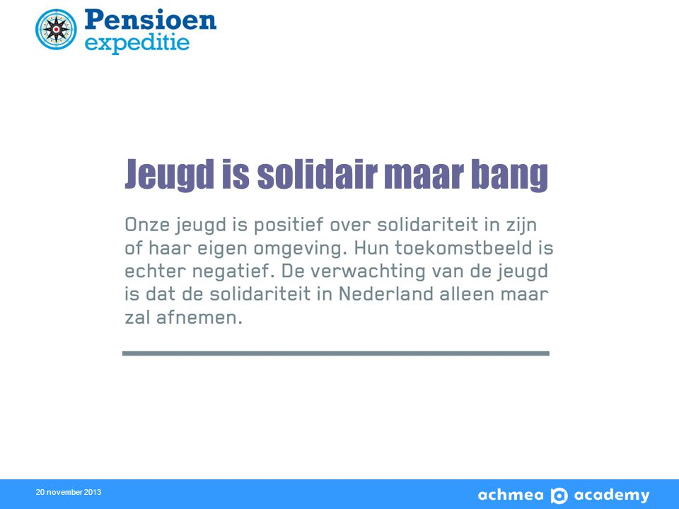 20 november 2013 Jeugd is solidair maar bang