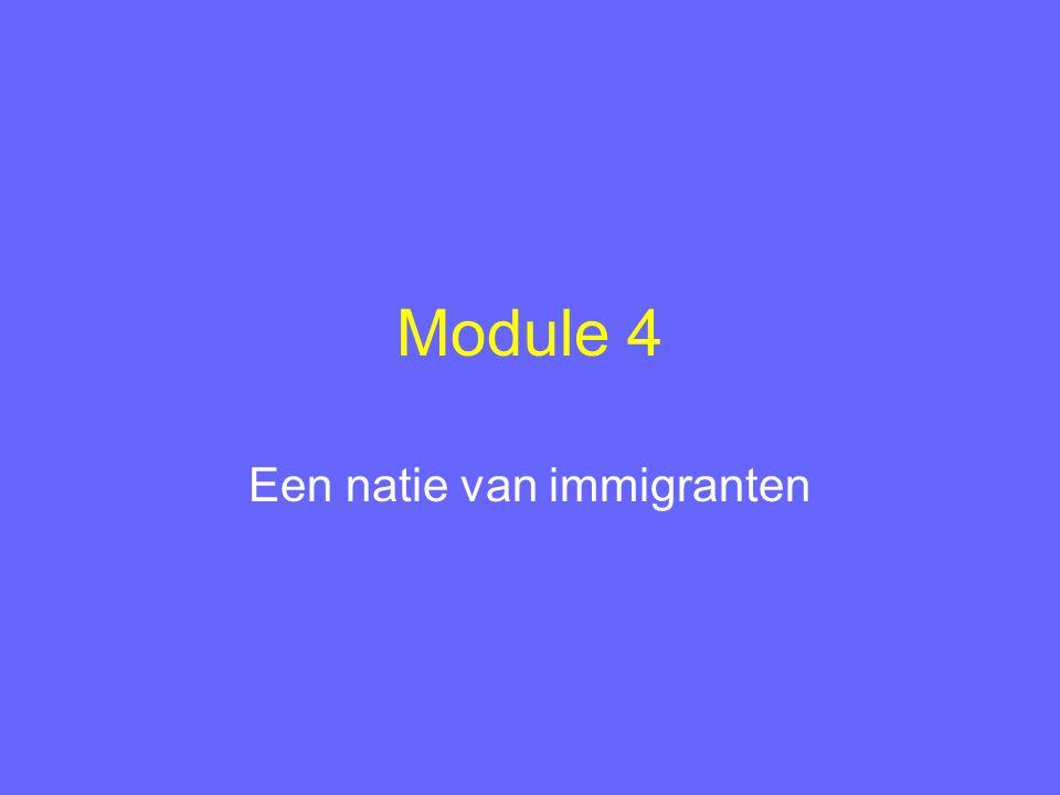 Module 4 Een natie van immigranten