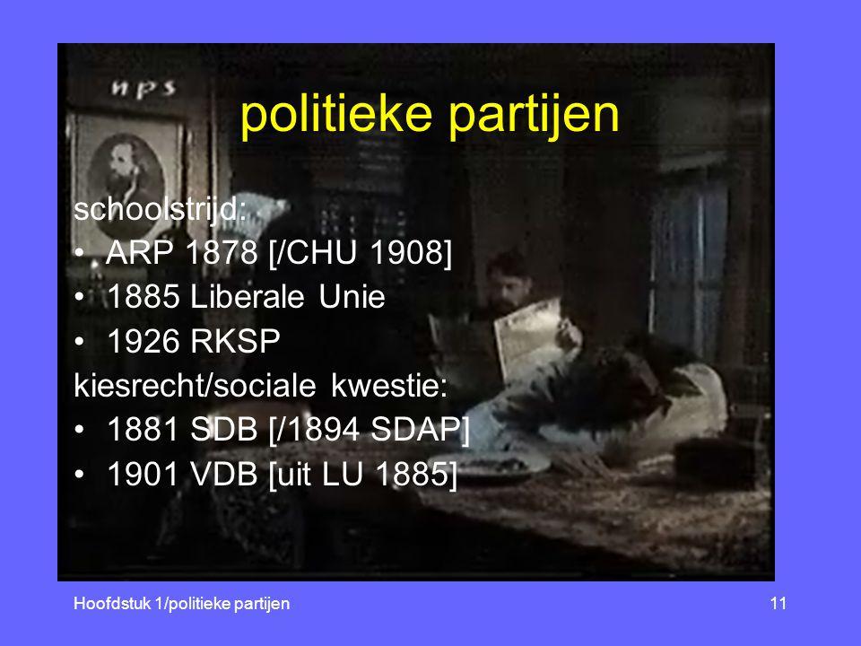 vraagstelling10 Wat zijn de kenmerken van de Nederland- se parlementaire democratie en hoe functioneerde deze in de 20ste eeuw.
