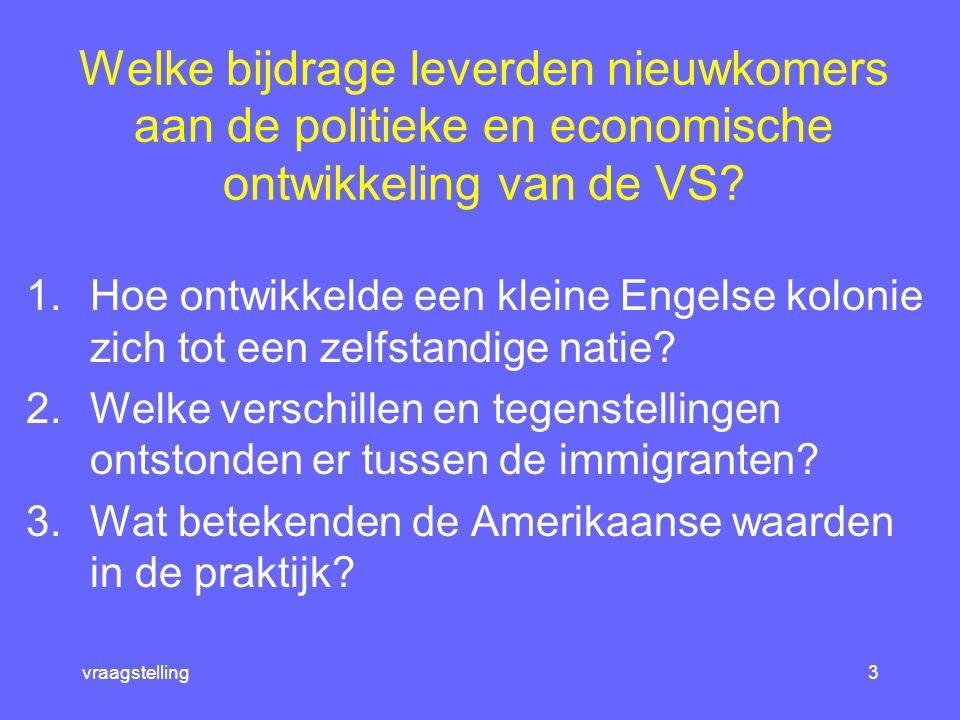 tijdbalk2 I have a dream 1.Van Europese kolonie tot de VS 2.Land van belofte 3.Gelijke rechten voor iedereen