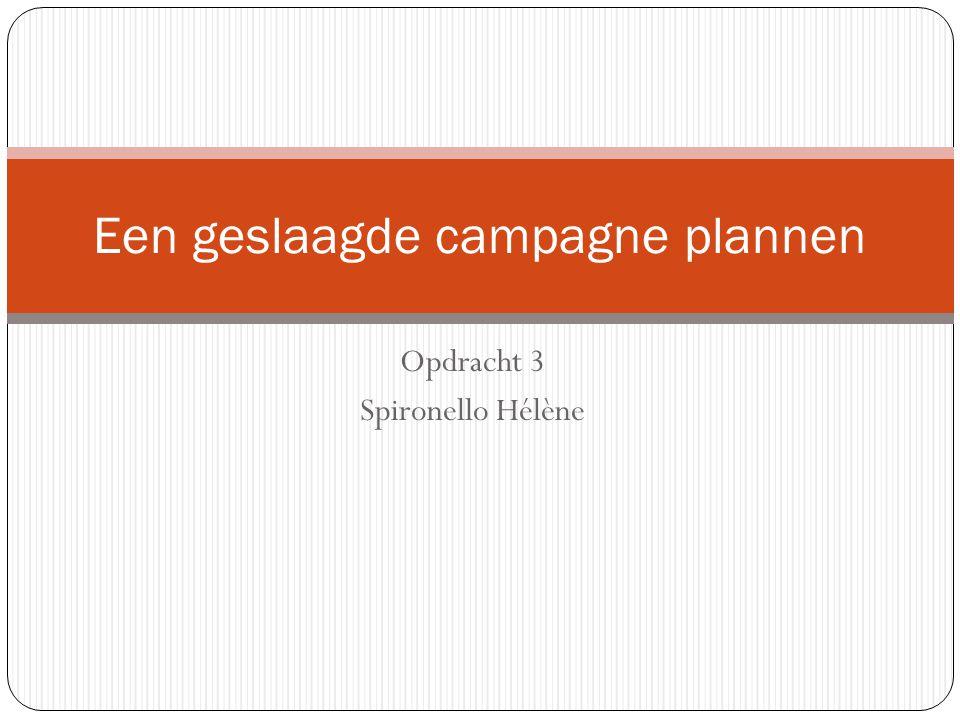 Opdracht 3 Spironello Hélène Een geslaagde campagne plannen