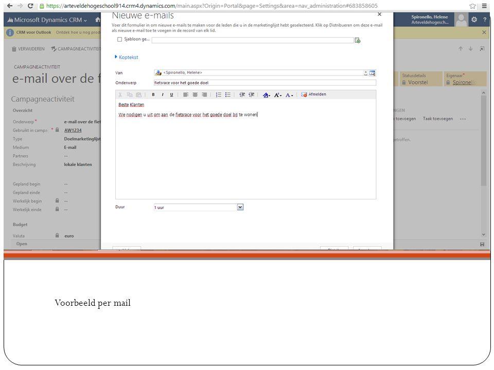 Voorbeeld per mail