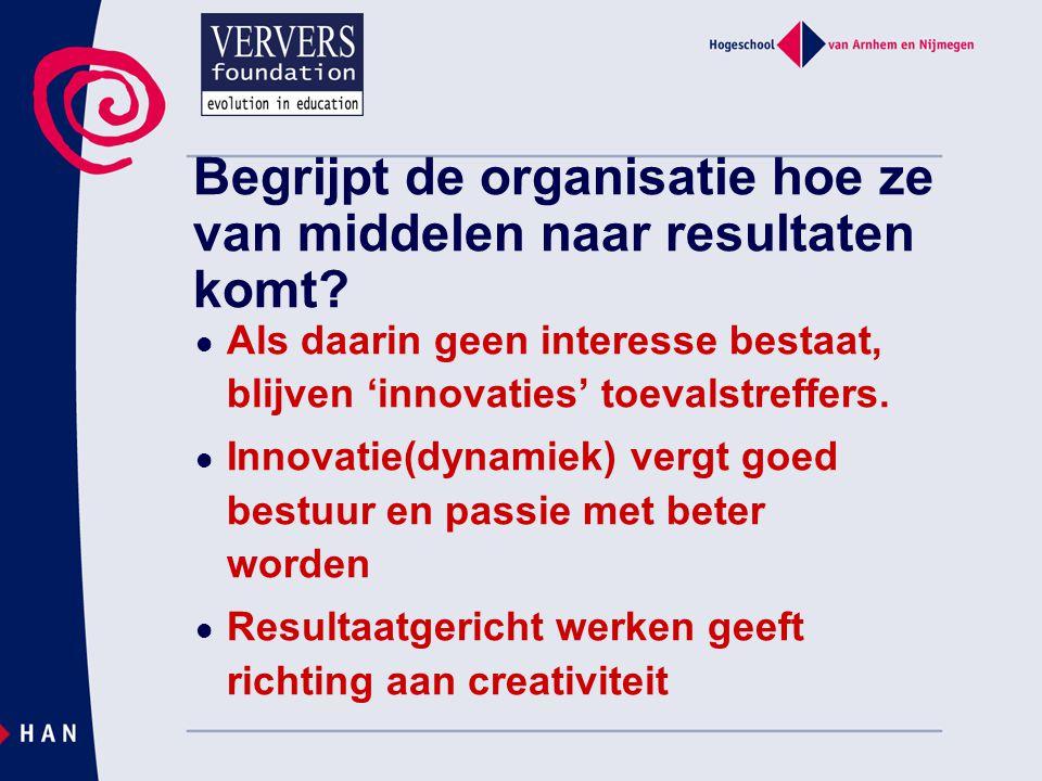 Frans de Vijlder - Governance en innovatiedynamiek in het onderwijs Resultaatgericht werken