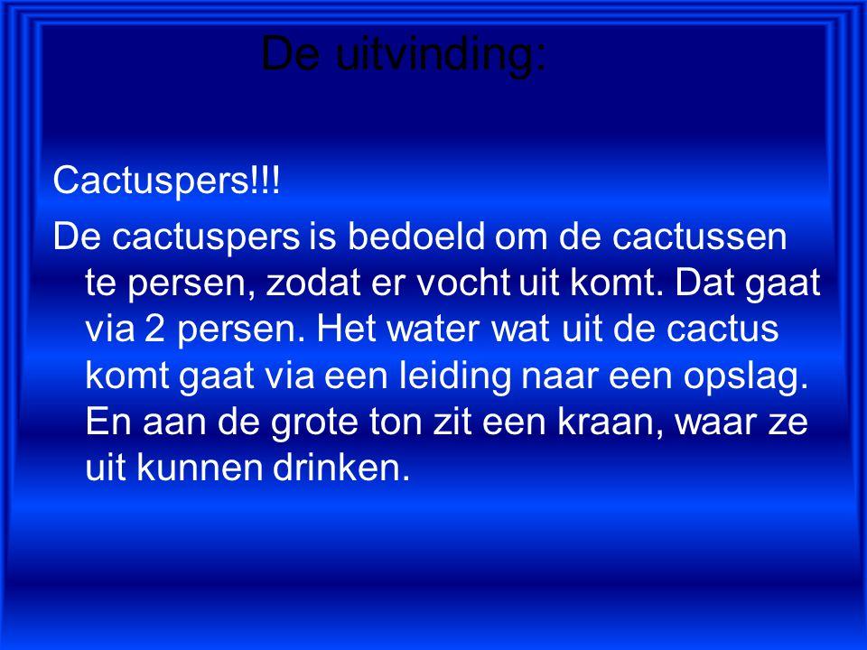 De uitvinding: Cactuspers!!.