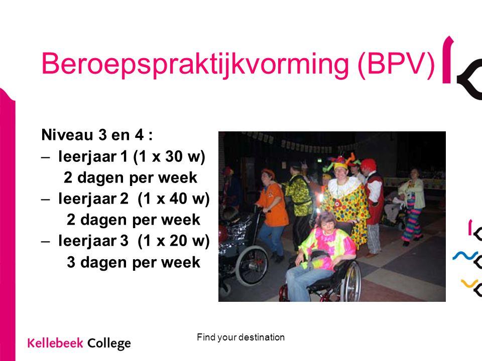 Find your destination Toelatingseisen voor de opleiding Maatschappelijke Zorg: Niveau 3 en 4: Helpende Zorg en Welzijn Diploma VMBO KBL, GL of TL