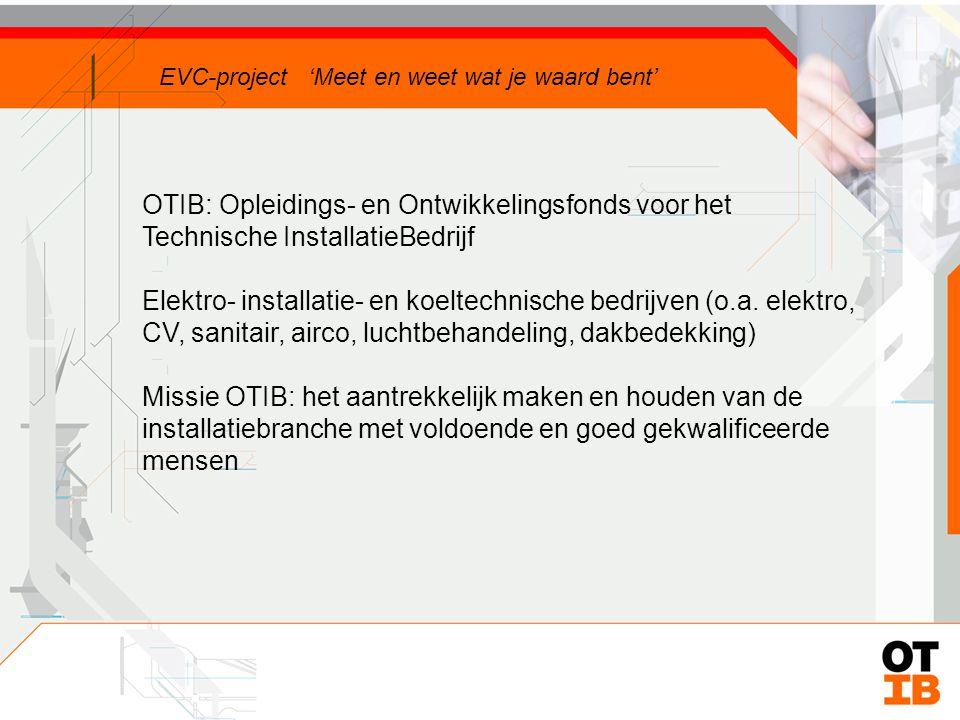 OTIB: Opleidings- en Ontwikkelingsfonds voor het Technische InstallatieBedrijf Elektro- installatie- en koeltechnische bedrijven (o.a.