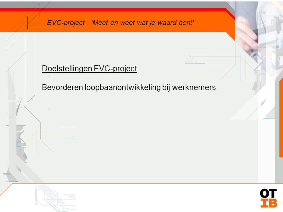 Doelstellingen EVC-project EVC-project 'Meet en weet wat je waard bent'