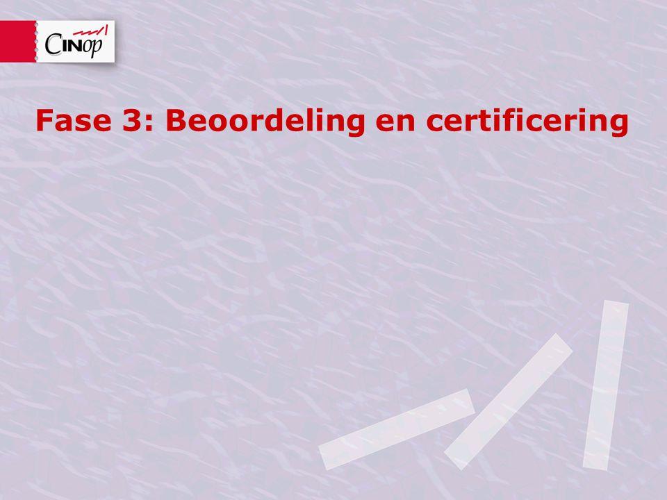 Fase 3: Beoordeling en certificering