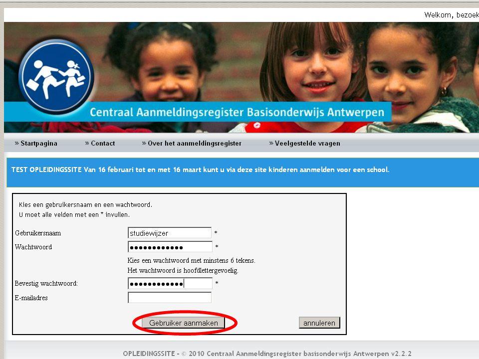 Na het kiezen van de postcode, klikt u op de knop zoeken.