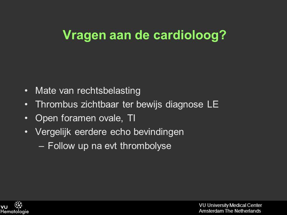 VU University Medical Center Amsterdam The Netherlands Massale longembolieën: onderscheid niet-massaal.
