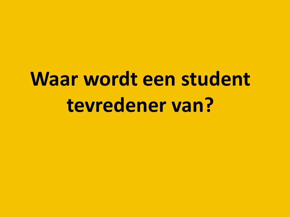 Waar wordt een student tevredener van?
