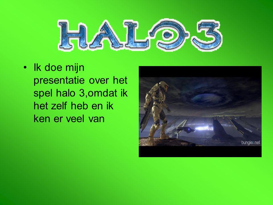 Ik doe mijn presentatie over het spel halo 3,omdat ik het zelf heb en ik ken er veel van