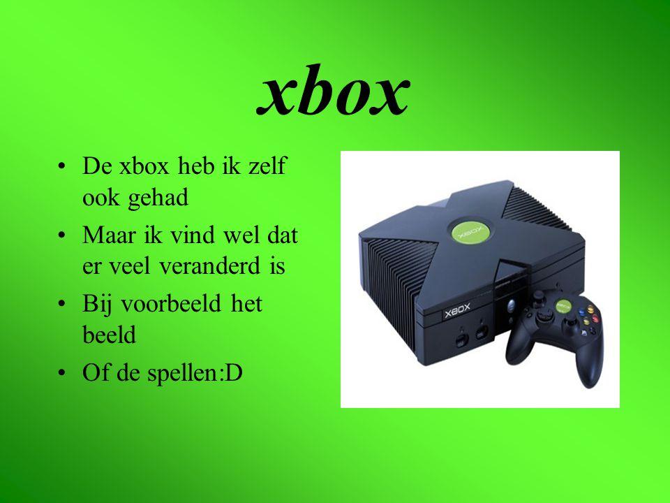 De xbox 360 zelf De xbox 360 is de nieuwere versie Dan de xbox