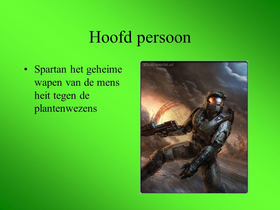 Hoofd persoon Spartan het geheime wapen van de mens heit tegen de plantenwezens