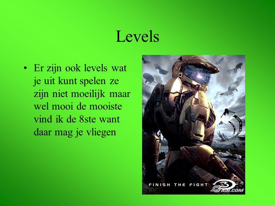 Levels Er zijn ook levels wat je uit kunt spelen ze zijn niet moeilijk maar wel mooi de mooiste vind ik de 8ste want daar mag je vliegen