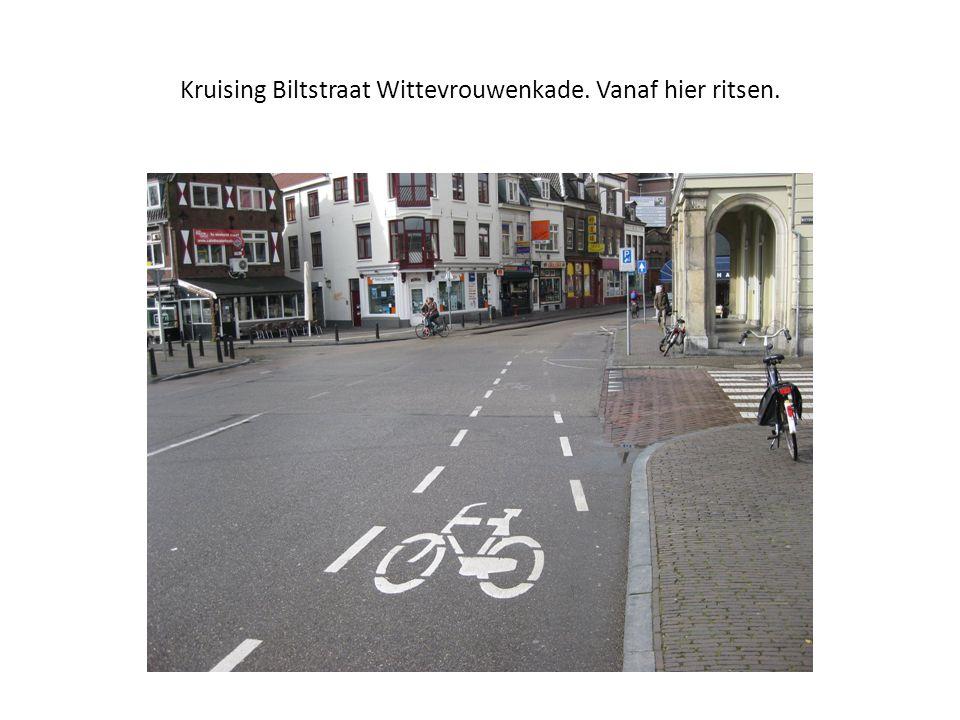 Kruising Biltstraat Wittevrouwenkade. Vanaf hier ritsen.