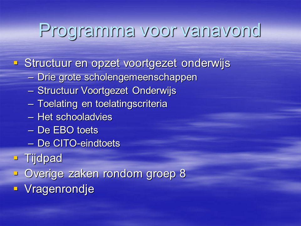 Structuur en opzet voortgezet onderwijs  Er zijn in Hengelo drie grote scholengemeenschappen voor voortgezet onderwijs:  Er zijn in Hengelo drie grote scholengemeenschappen voor voortgezet onderwijs: Twickel Twickel Grundel Grundel OSG Hengelo OSG Hengelo