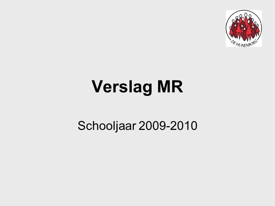 Onderwerpen 2009-2010(2) Communicatie Oud papier –Organisatie en verantwoording ligt bij de OR.