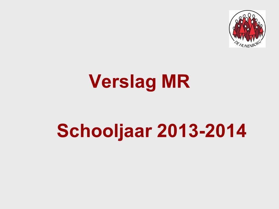 Verslag MR Schooljaar 2013-2014