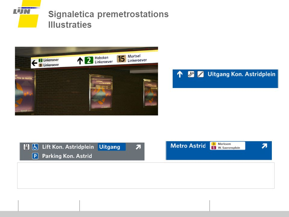 Signaletica premetrostations Illustraties