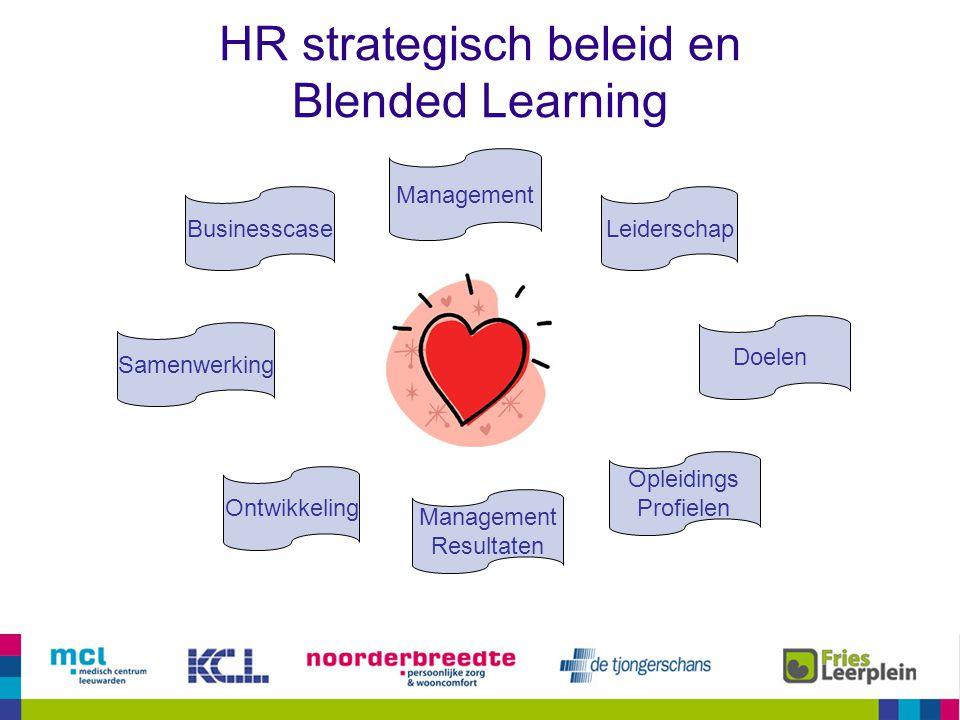 HR strategisch beleid en Blended Learning Businesscase Samenwerking Ontwikkeling Management Leiderschap Opleidings Profielen Management Resultaten Doe
