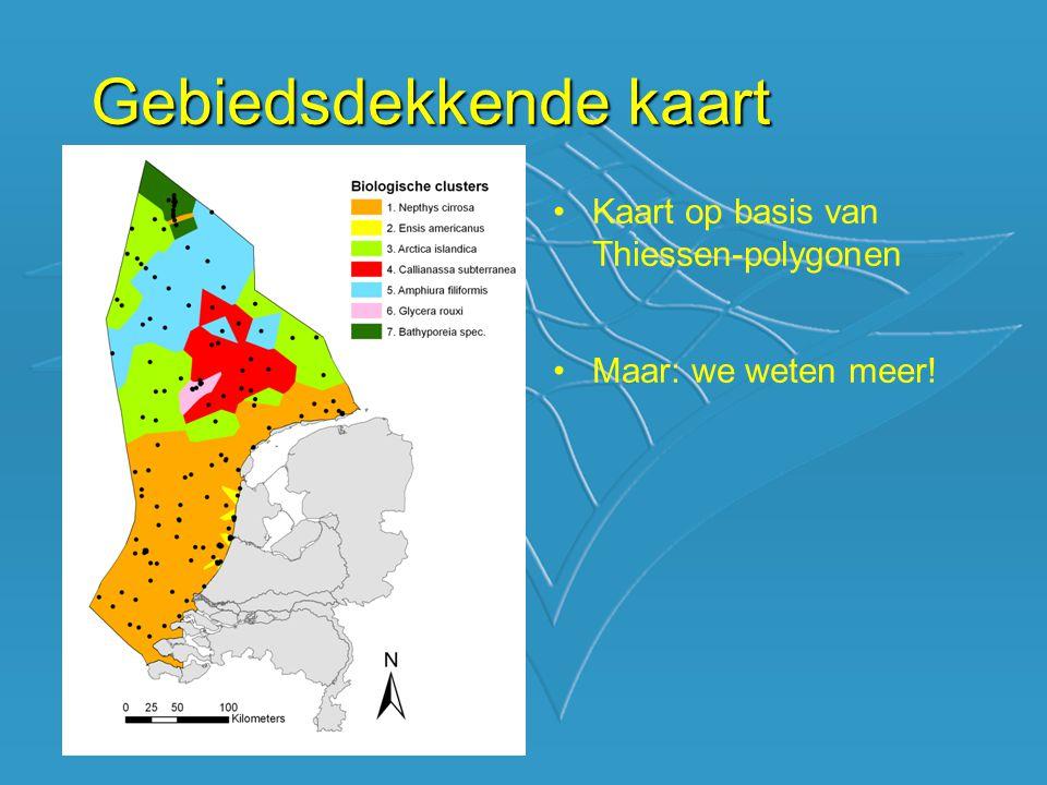 Gebiedsdekkende kaart Kaart op basis van Thiessen-polygonen Maar: we weten meer!
