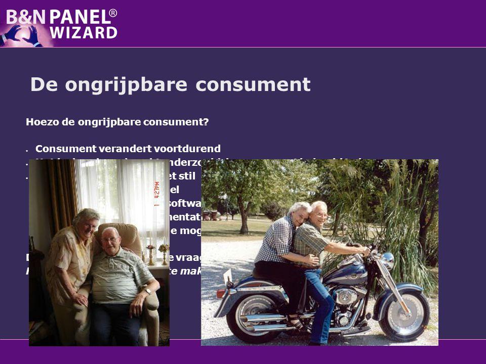 De ongrijpbare consument Hoezo de ongrijpbare consument? Consument verandert voortdurend Het is de rol van 'marktonderzoek' de consument in beeld te b