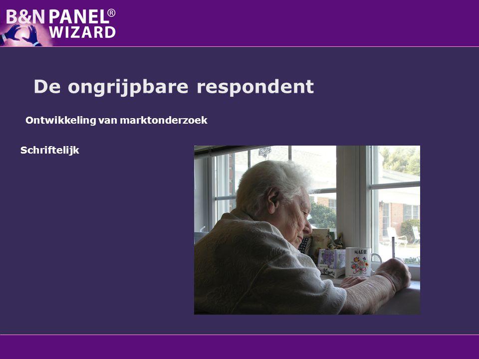 Ontwikkeling van marktonderzoek Schriftelijk Face to Face De ongrijpbare respondent
