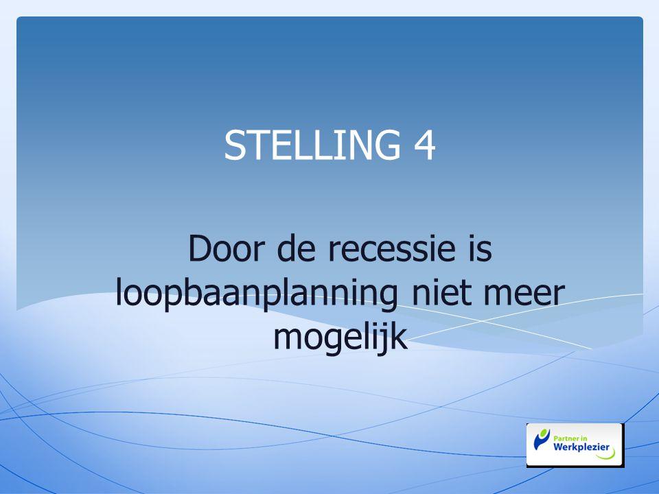 Door de recessie is loopbaanplanning niet meer mogelijk STELLING 4