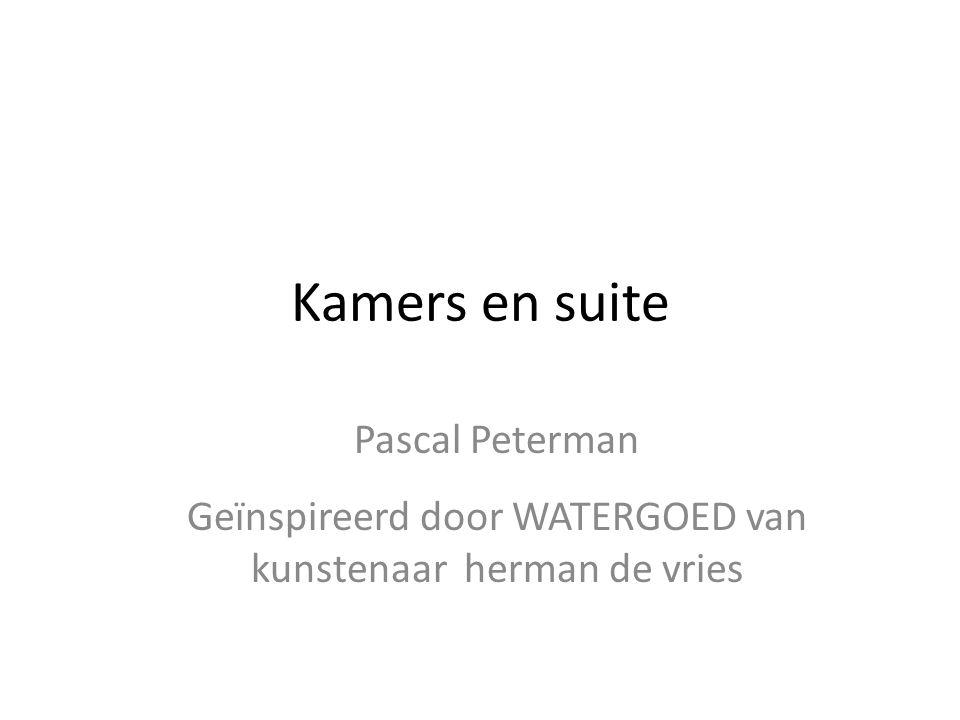 Kamers en suite Pascal Peterman Geïnspireerd door WATERGOED van kunstenaar herman de vries
