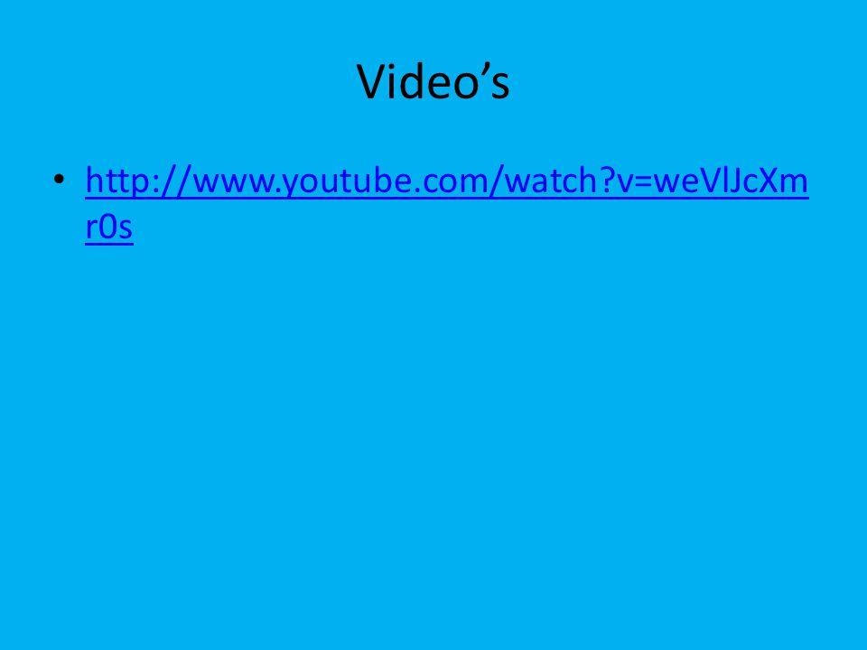 Video's http://www.youtube.com/watch?v=weVlJcXm r0s http://www.youtube.com/watch?v=weVlJcXm r0s