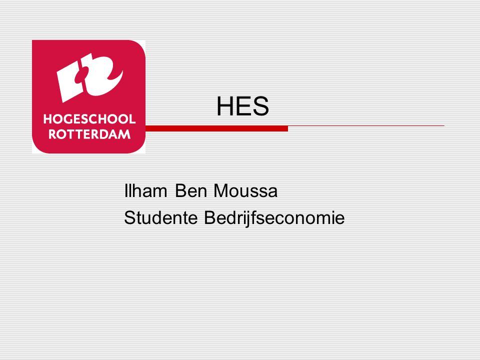Ilham Ben Moussa Studente Bedrijfseconomie HES