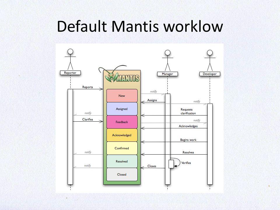 Default Mantis worklow