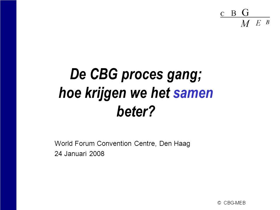 De CBG proces gang; hoe krijgen we het samen beter.