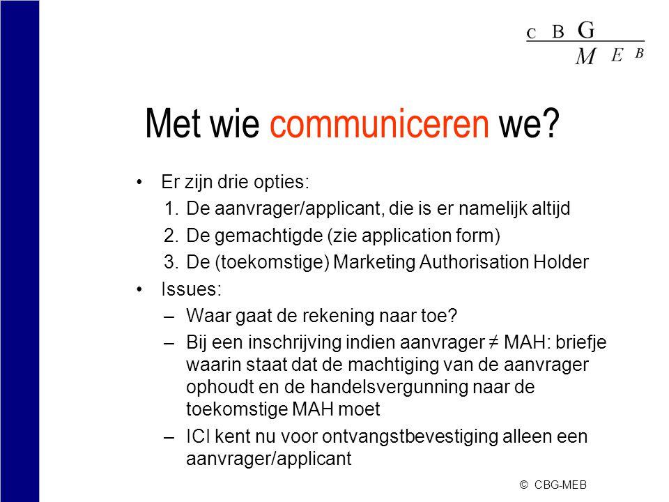 © CBG-MEB Met wie communiceren we.