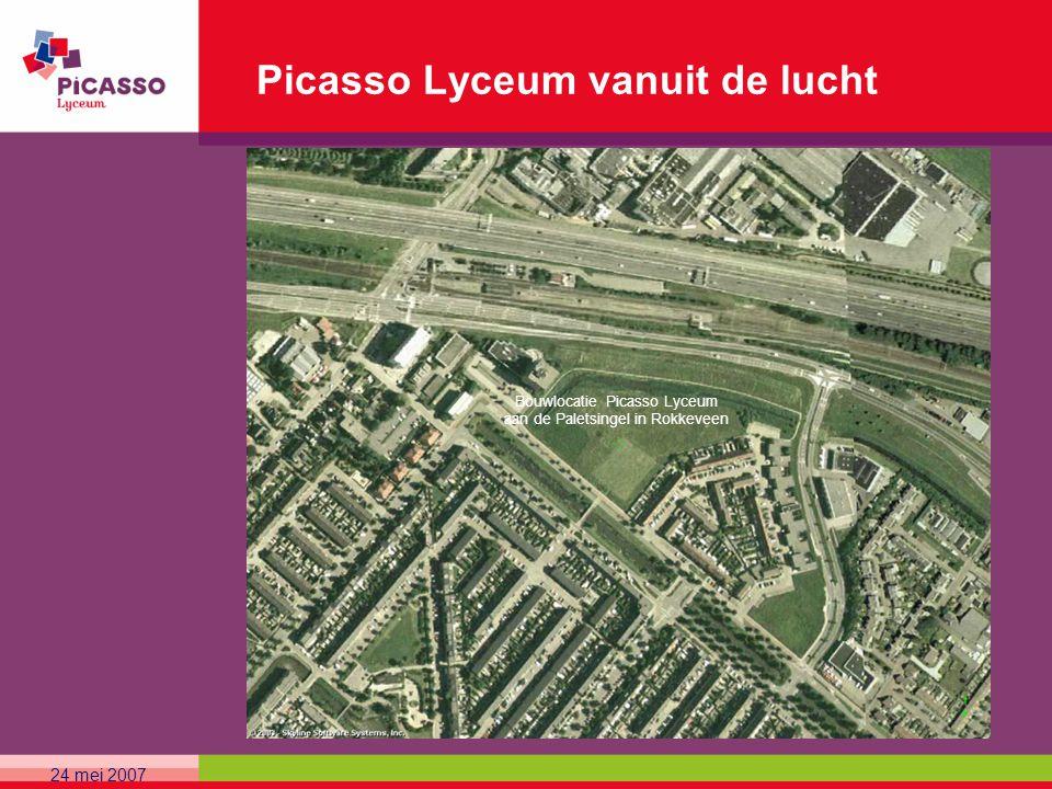 24 mei 2007 Picasso Lyceum vanuit de lucht Bouwlocatie Picasso Lyceum aan de Paletsingel in Rokkeveen