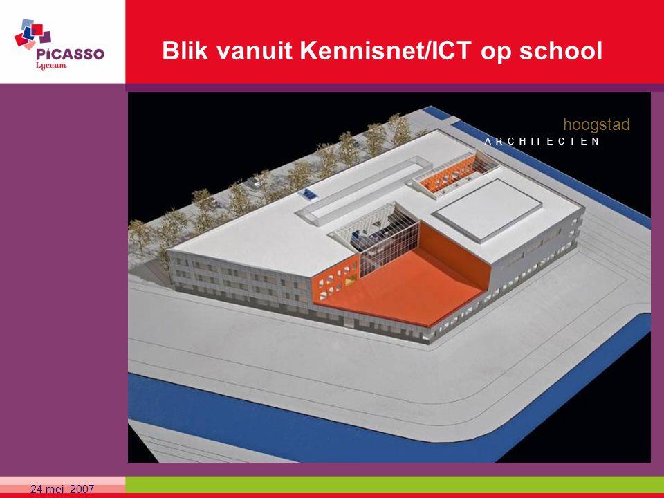 24 mei 2007 Blik vanuit Kennisnet/ICT op school hoogstad A R C H I T E C T E N