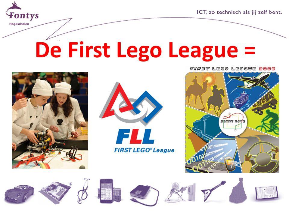 Robot opdracht Zorg dat je robot van de basis het toegangsteken activeert dat het verst weg is Gebruik het 'bewegen' blok versie: 09 Juni 2010Introductie in de First Lego League pagina 13