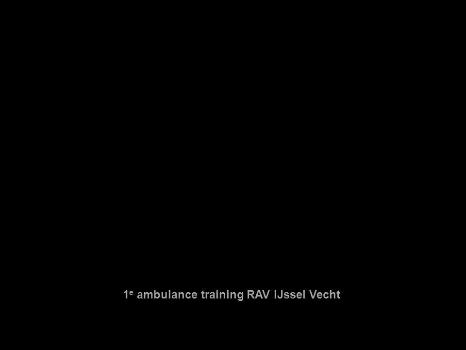 1 e ambulance training RAV IJssel Vecht