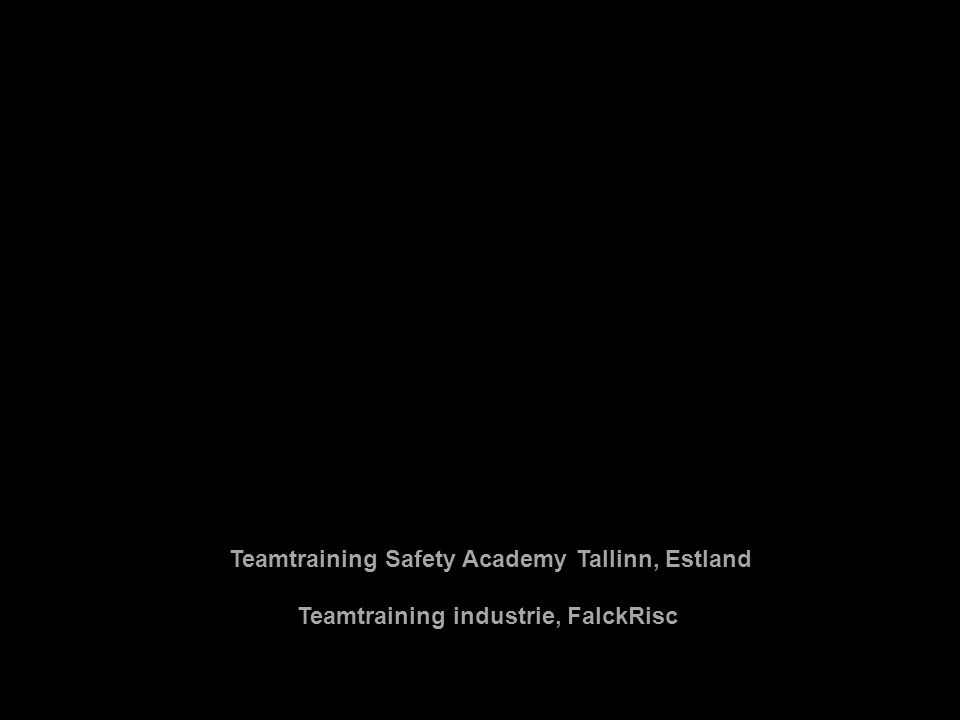 Teamtraining Safety Academy Tallinn, Estland Teamtraining industrie, FalckRisc